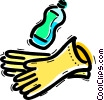 Rubber Gloves Vector Clipart picture