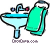 Sinks Vector Clip Art graphic