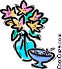 Vector Clip Art picture  of a Flowers in a Vase