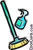 Brooms and Dustpans Vector Clipart picture