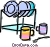 Vector Clip Art image  of a Bowls and Dishes
