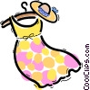 Dresses Vector Clipart picture