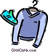 Vector Clip Art image  of a Shirts