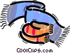 Vector Clip Art graphic  of a Scarves