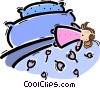 Vector Clip Art picture  of a Beds