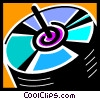 Vector Clipart illustration  of a cd-roms