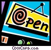 Vector Clipart image  of a open sign