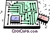 Vector Clip Art picture  of a Circuit Boards