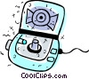 Portable CD-ROM Players Vector Clipart illustration