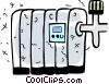 Vector Clipart illustration  of a Electric Heaters