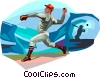 Baseball pitcher Vector Clipart image