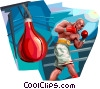 Boxers and Fighters Vector Clip Art image