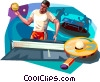 Player Vector Clip Art picture