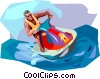 Vector Clip Art graphic  of a Personal Watercraft