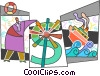 Vector Clipart graphic  of a Financial Concepts