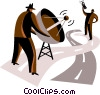 Vector Clip Art graphic  of a communication concepts