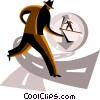 concept of time Vector Clip Art image