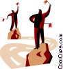 Vector Clipart picture  of a Semaphore