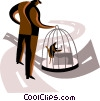 Vector Clip Art graphic  of a Control and Manipulation