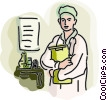 Vector Clip Art image  of a Doctor holding clipboard