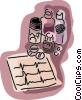 medicine and ecg print-out Vector Clip Art image