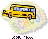 Vector Clipart illustration  of a School Buses