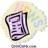 Periodicals Newspapers Magazines Vector Clipart illustration