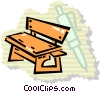 Vector Clip Art image  of a bench