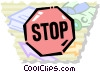 Vector Clip Art graphic  of a Crossing Guards