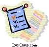 test paper Vector Clipart illustration