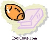 Vector Clip Art picture  of a Footballs