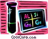Vector Clip Art picture  of a Beakers Flasks and Test Tubes