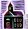 Vector Clip Art graphic  of a School Buildings