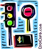 Traffic Signals Vector Clipart graphic