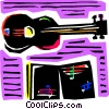 Vector Clipart image  of an Acoustic Guitars
