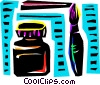 Vector Clipart illustration  of a Paint and Brushes