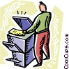 Vector Clipart graphic  of a Photocopiers