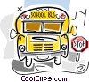 Vector Clipart picture  of a School Buses