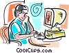 Online Concepts Vector Clip Art image