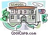School Buildings Vector Clipart image