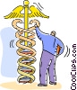 Vector Clipart graphic  of a Scientists and Researchers