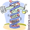 Vector Clipart graphic  of a Medical Research