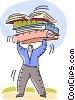 Vector Clipart illustration  of a People with Books