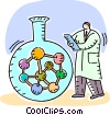 Vector Clip Art image  of a Scientists and Researchers