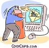Computer Viruses Vector Clipart picture