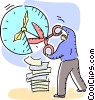 Vector Clipart graphic  of a Concepts of time