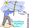 Vector Clip Art image  of a Fishing for Prospects