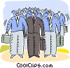 Businessmen Vector Clipart illustration