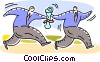 Teamwork and Cooperation Vector Clipart illustration