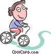 Vector Clipart image  of a Cyclists